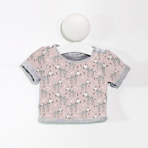Pink zebra T Shirt