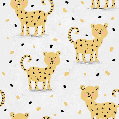 Cheetah dribble bib