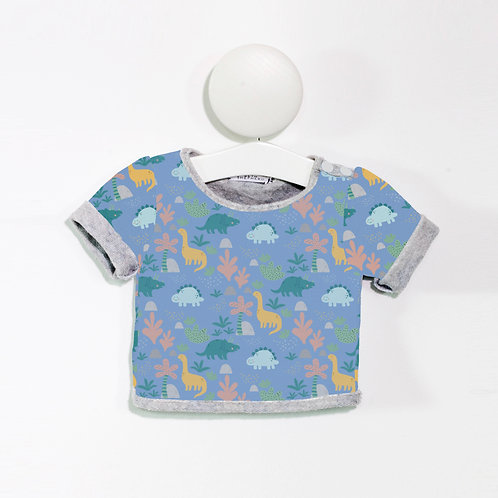 Blue dinosaur T shirt