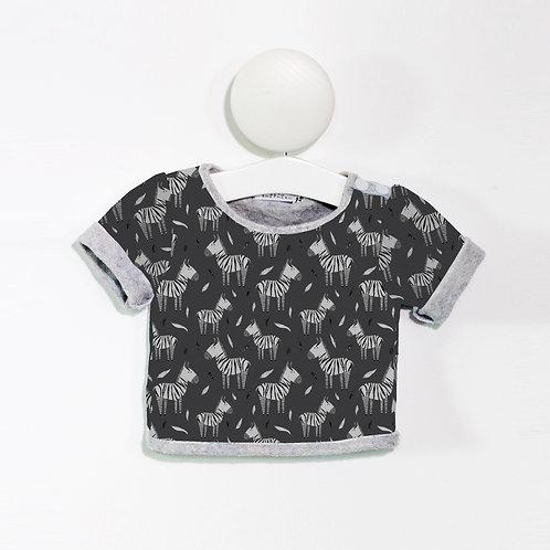 Charcoal zebra T Shirt