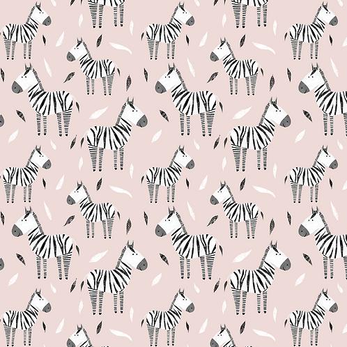 Pink zebra romper