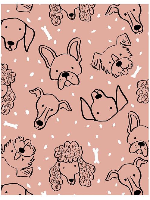 Pink dog hat