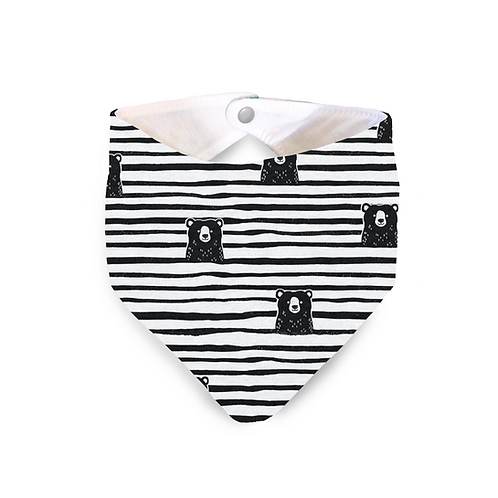 Bear print dribble bib