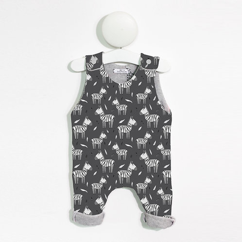 Charcoal zebra print