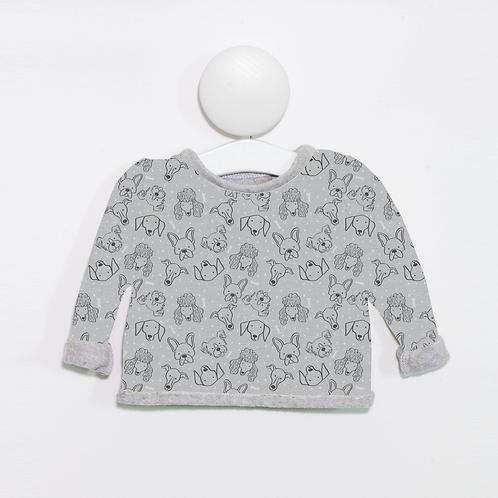 Grey dog print