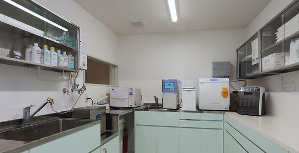 みどり坂歯科、消毒滅菌室