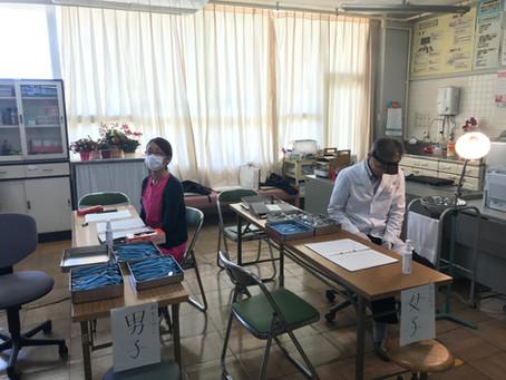 八木山小学校の歯科検診に行きました。
