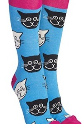 Sock Society blue cat socks