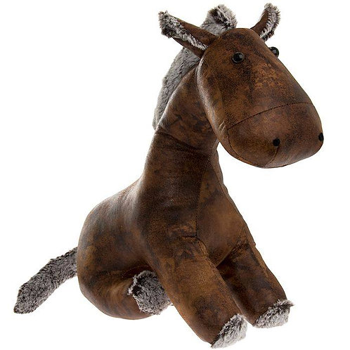 Faux leather donkey doorstop