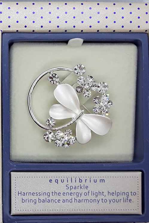 Pearlised butterfly brooch