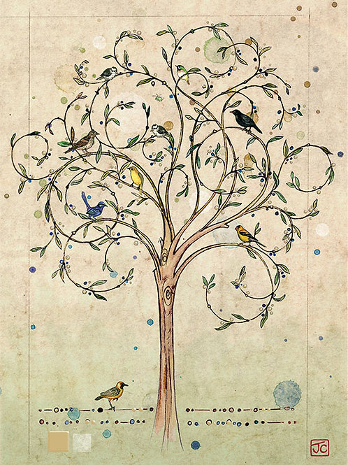Bird tree card