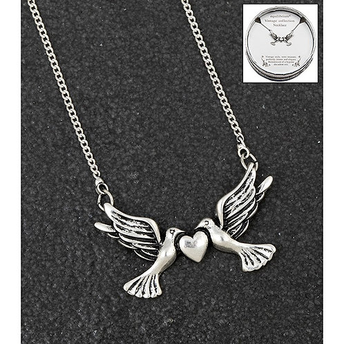 Love birds vintage necklace