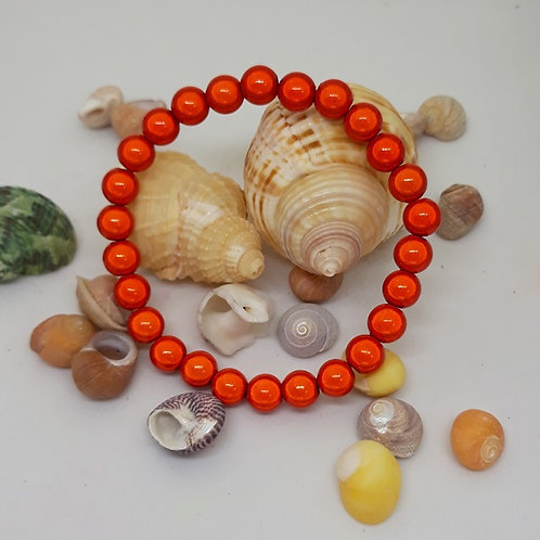Orange miracle bead bracelet