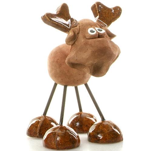 Wire Legs moose ornament