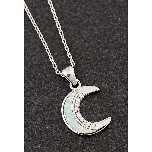 Equilibrium Opalescent moon necklace