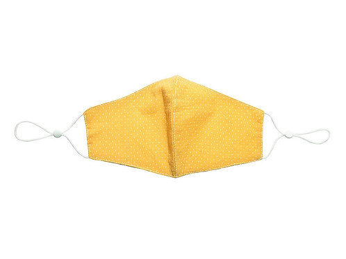 Yellow 100% cotton facemask.