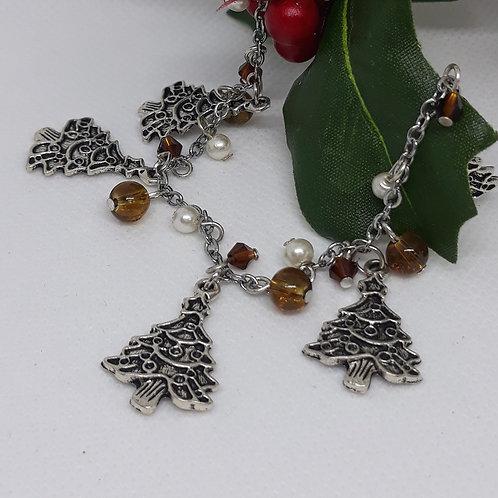 Christmas Tree beaded bracelet