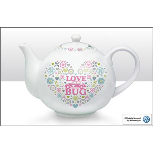 VW Love Bug Beetle Tea Pot