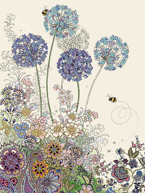 Purple Allium card