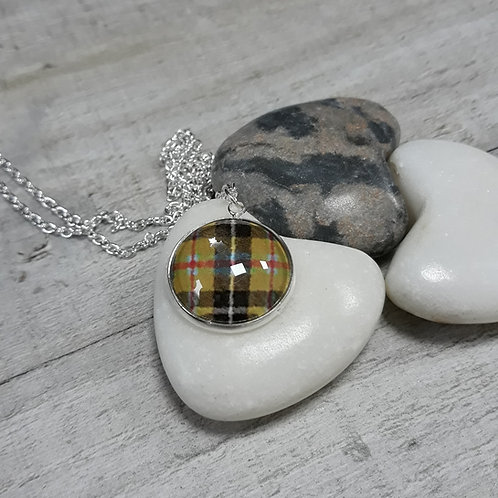 Cornish tartan round necklace