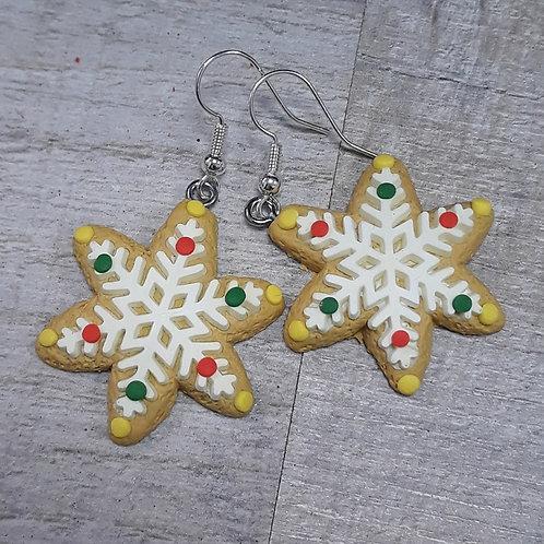 Snowflake biscuit drops