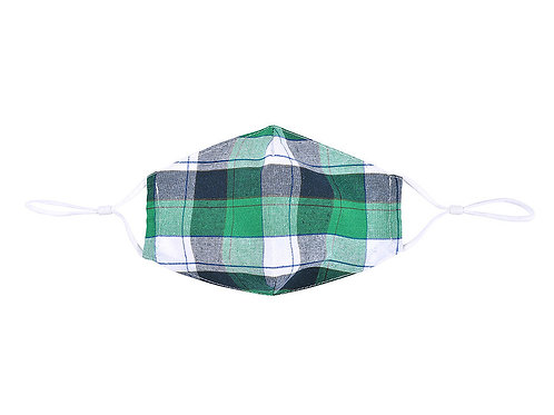 Green tartan facemask