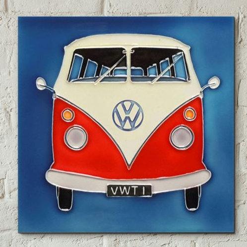 Ceramic Tile, red VW