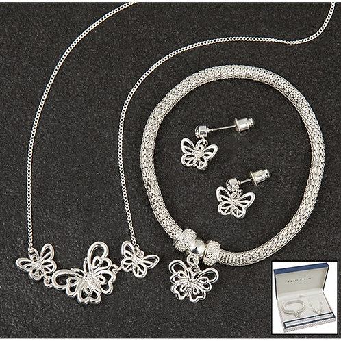 Equilibrium butterfly jewellery set