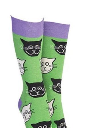 Sock Society green cat socks