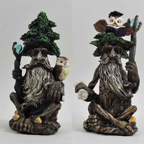 Tree Ent pair with owls and book