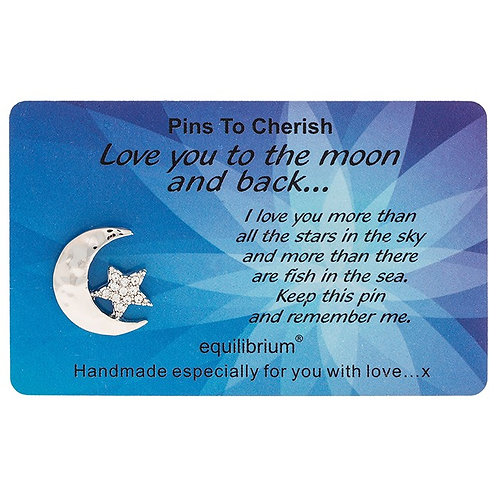 """Lapel pin """"Love you to the moon and back"""""""