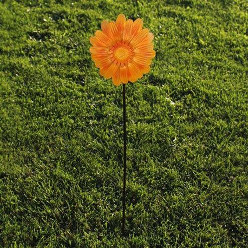 Yellow metal flower , garden ornament