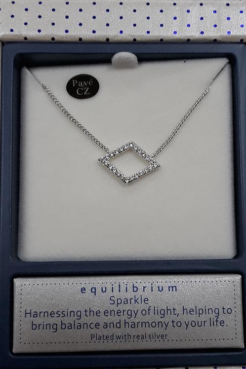Diamond shape necklace with cz