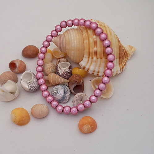 Pink miracle bead bracelet