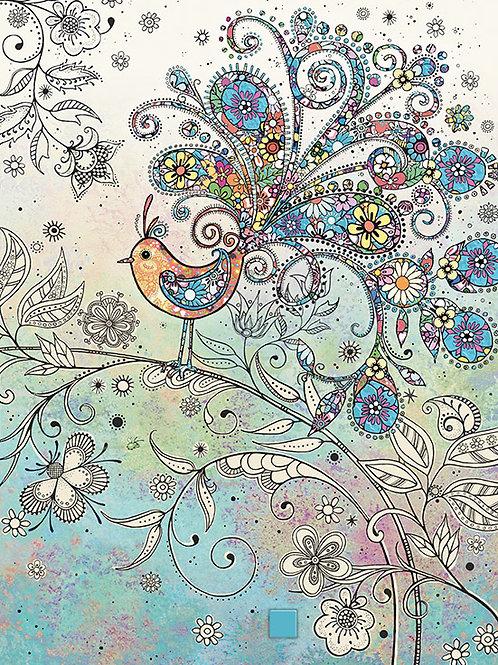 Doodle bird card