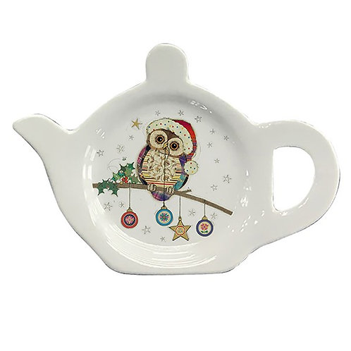Teabag tidy Christmas Owl from Bug Art