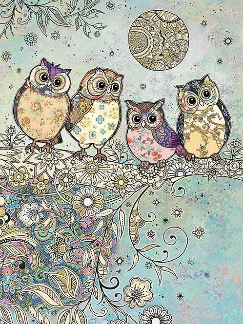 Four Owls card