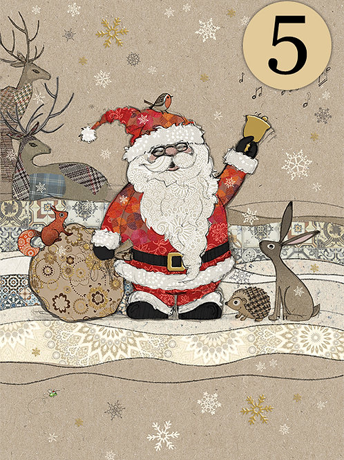 Santa and friends cards, 5 pack