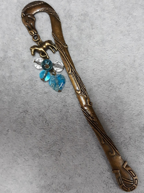 Horse design bookmark with horse charm