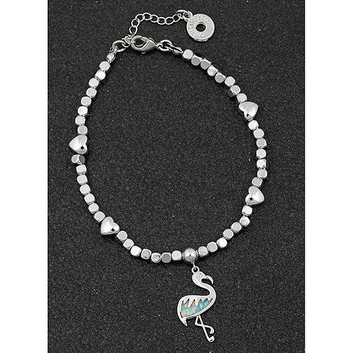 Opalescent flamingo bracelet