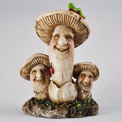 "Garden ornament: Mushroom family ""The Nortons"""