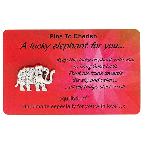 """Pin """"A lucky elephant for you"""""""