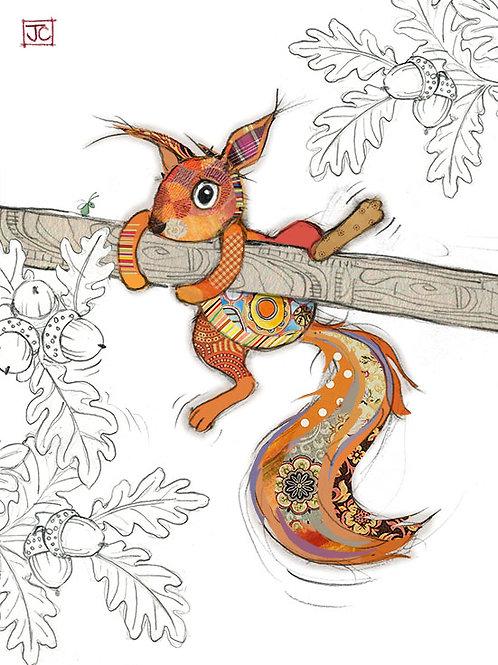 Sammy Squirrel card from Bug Art