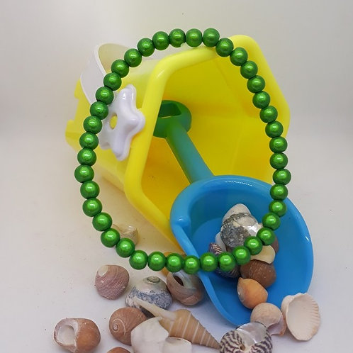Green miracle bead anklet