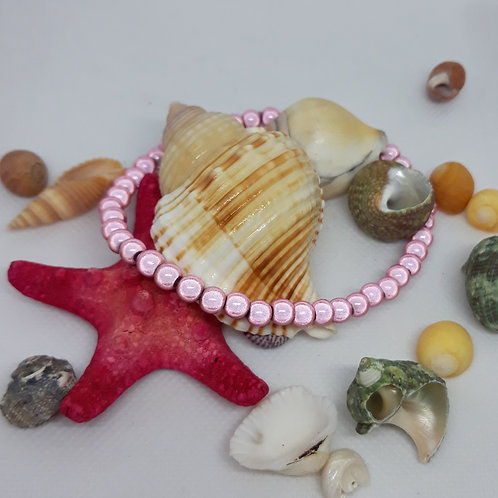 Pink miracle bead anklet