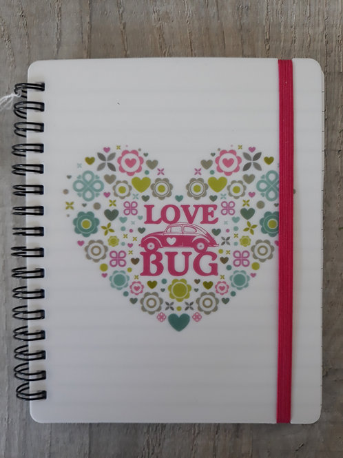 VW Love Bug note book