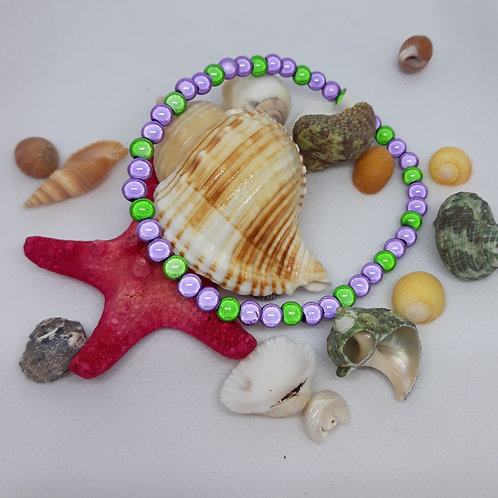 Elasticated miracle bead anklet