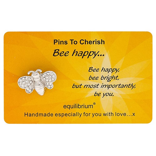 "Cherished pin ""bee happy"" from Equilibrium"