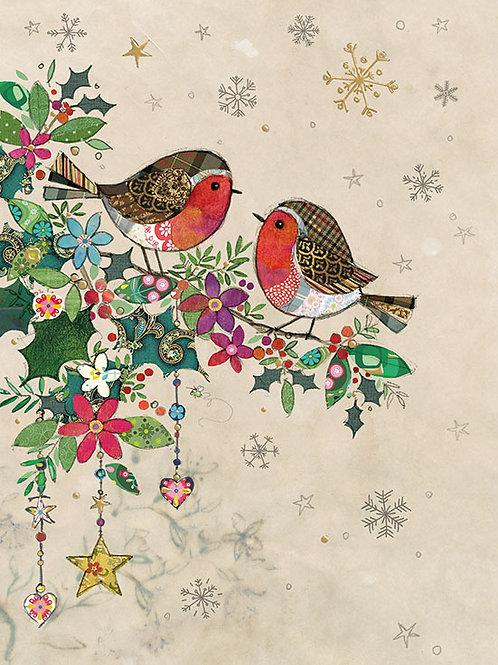 Christmas Robins card