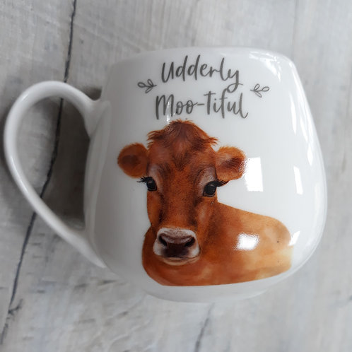 Cow mug, Udderly moo-tiful